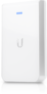 Discreet Ubiquiti In-Wall Wi-Fi units for hospitality and accommodation