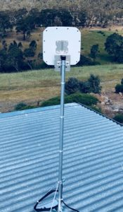 4G Antenna installation at Yandoit Hills - 36Mbit!